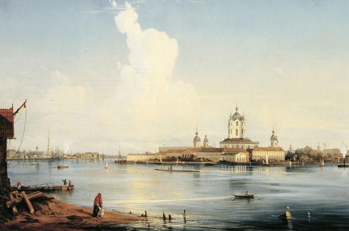 Картина написана известным русским живописцем Алексеем Боголюбовым. 1951 год.