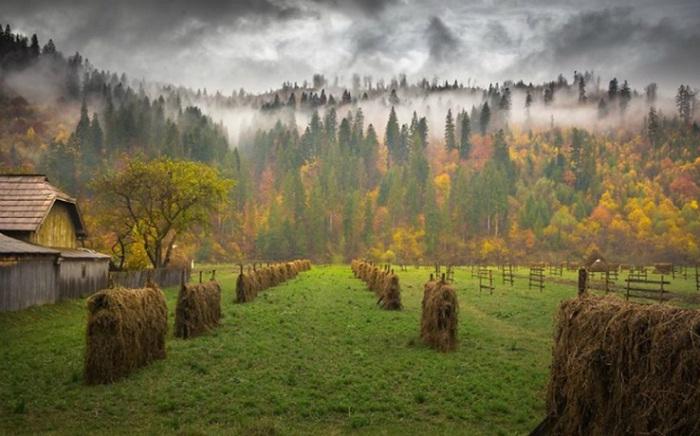 Деревни, которые раскинуты у подножья Карпат, остались не тронуты цивилизацией. Фотограф: Andreea Oana.