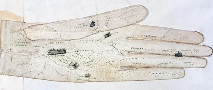 Перчатка сшита для модниц, собиравшихся посетить выставку в Гайд-парке, 1851 год.