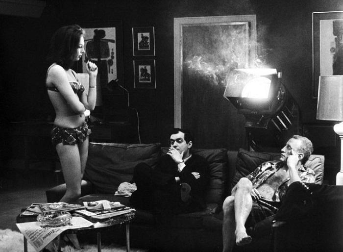 Стэнли Кубрик и актерский состав киноленты «Доктор Стрейнджлав», 1963 год.