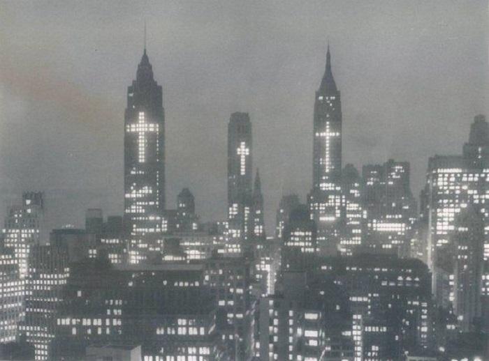 Пасхальное поздравление для ньюйоркцев, 1956 год.