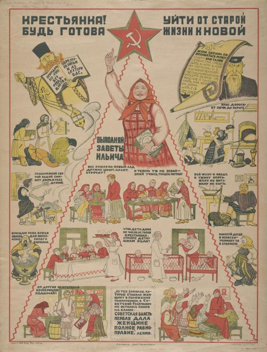 Плакат о готовности крестьянства к социальным переменам.