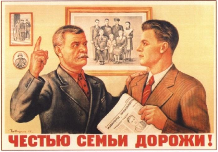 Плакат как главный способ советской пропаганды.
