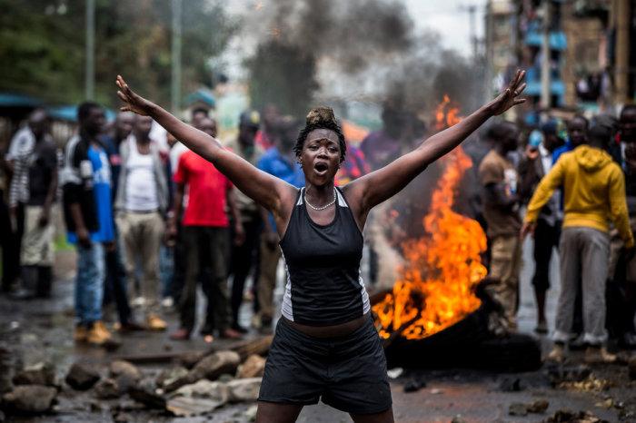 Смертоносные беспорядки, насильственные протесты после выборов в Кении. Автор фотографии: Луис Тато.