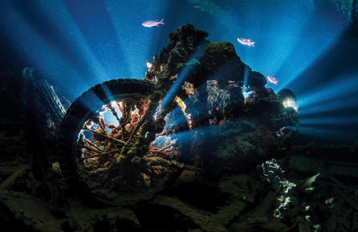 Дайвер Александр Мастард обнаружил в Египте мотоцикл внутри затонувшего судна под названием «Тистлегорм».