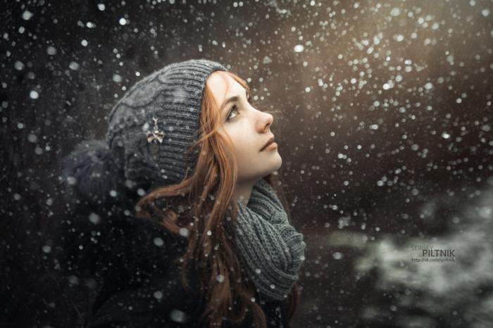 Снег идёт. Автор фото: Сергей Пилтник (Sergey Piltnik).