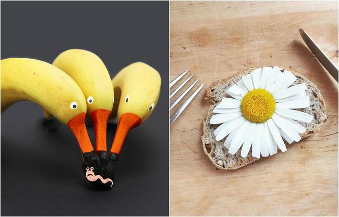 Необычные превращения обыкновенных продуктов.