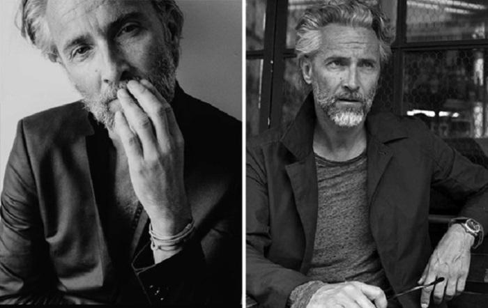 Французский мужчина, работающий моделью, запоминается, прежде всего, своей сединой, которую называют «соль с перцем».