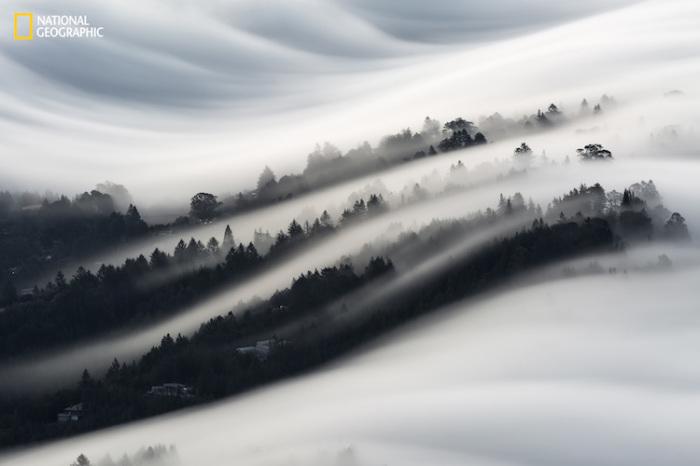Красивые волны тумана в Калифорнии, США. Автор фотографии: Кристофер Маркиц (Christopher Markisz).
