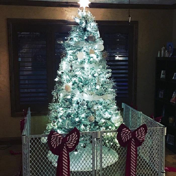 «Только с таким ограждением наша рождественская елочка сможет простоять весь праздник».