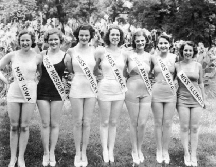 Финалистки конкурса «Мисс Америка», 1933 год.