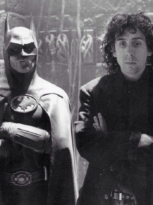 Актёры во время съемок картины «Бэтмен», 1989 год.