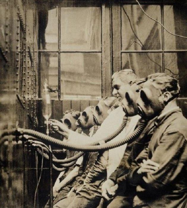 Экспериментальной станция тестирования противогазов, Англия, Лондон, 1932 год.
