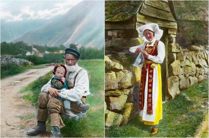 Фотографии Норвегии 1900 года.