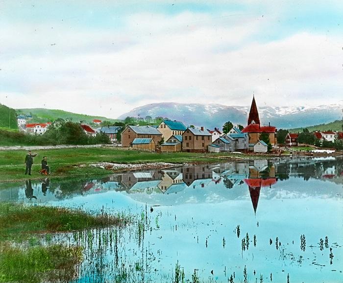 Небольшой городок норвежской сказки.