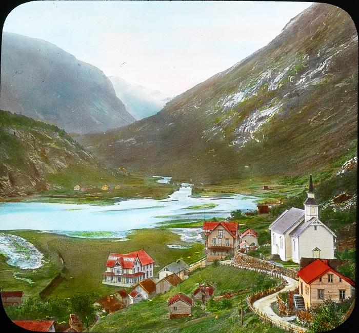 Старинный порт викингов на северо-западном побережье Норвегии.