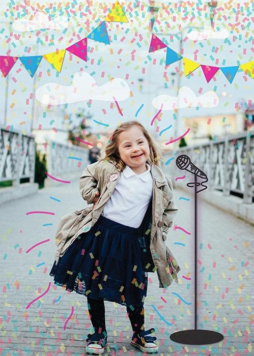 Маленькая принцесса, певица и фотомодель (Синдром Дауна).