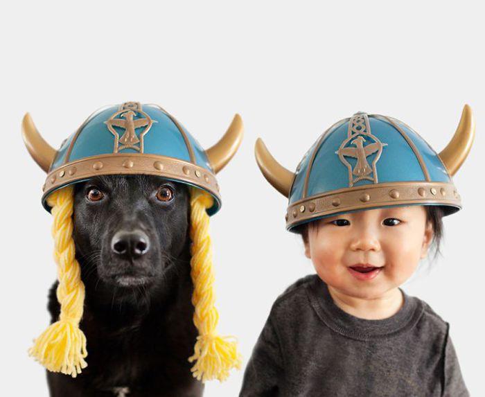 Рогатые шлемы скандинавских воинов.