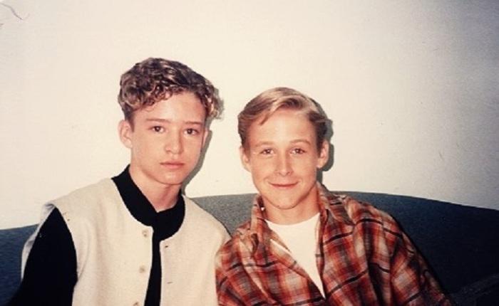 Юные и уже знаменитые ведущие американского телевизионного шоу «Mickey Mouse Club» в 1994 году.