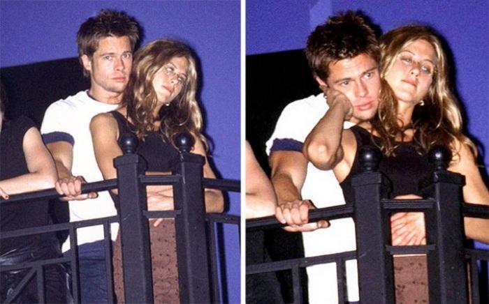 Первая совместная фотография актеров на концерте в Лос-Анджелесе в июне 1998 года.
