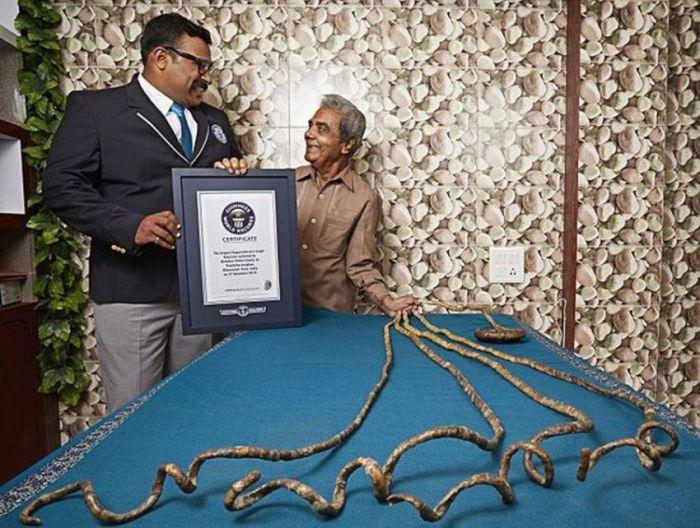 Шридхар Чиллал (Shridhar Chillal) вошёл Книгу рекордов Гиннеса 2016, как человек с самыми длинными в мире ногтями.