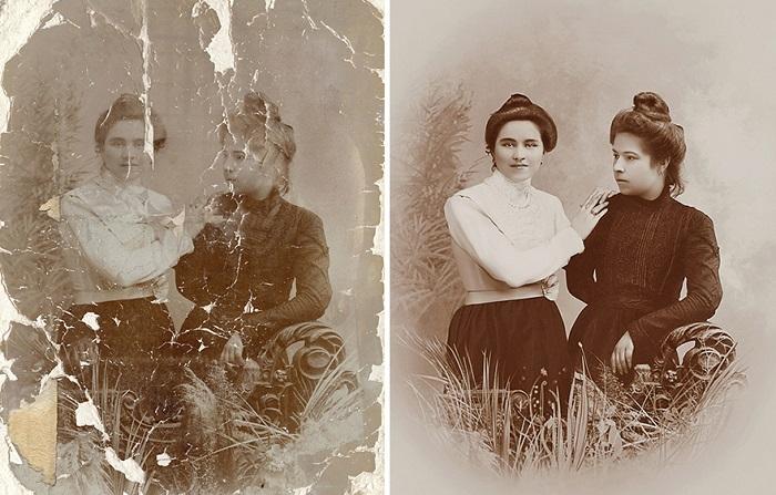 Возвращая прошлое: восстановленные фотографии Татьяны Дьяченко.