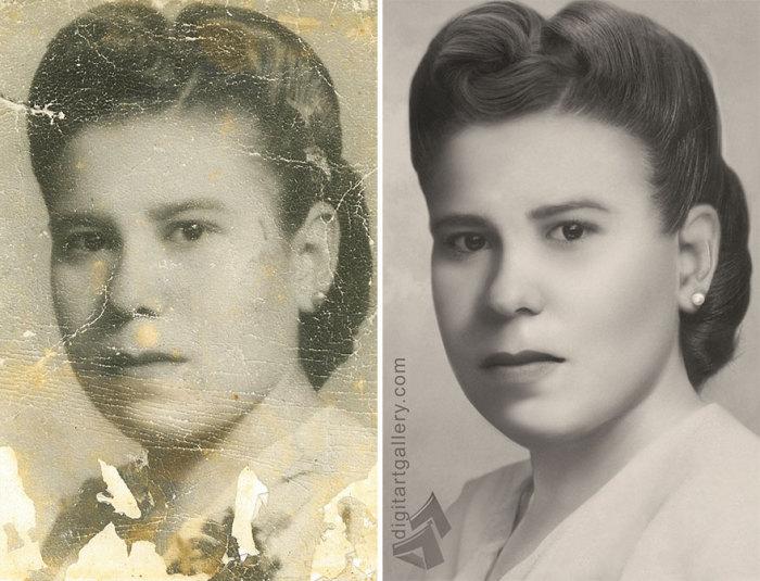 Фотохудожнику удалось восстановить портрет до мелочей.