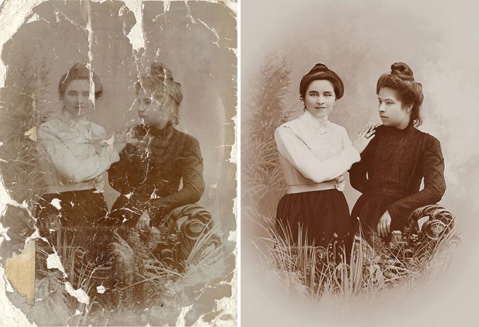 Восстановление портретных фотографий - кропотливый процесс.