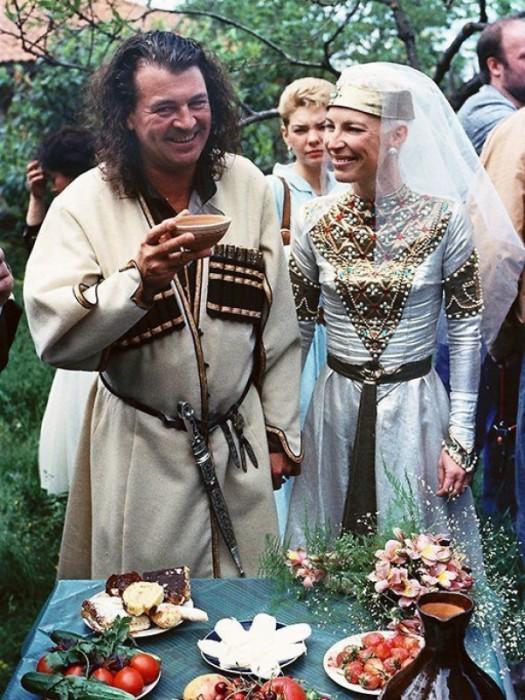 Венчание Иэн Гиллан и его жены Брон.