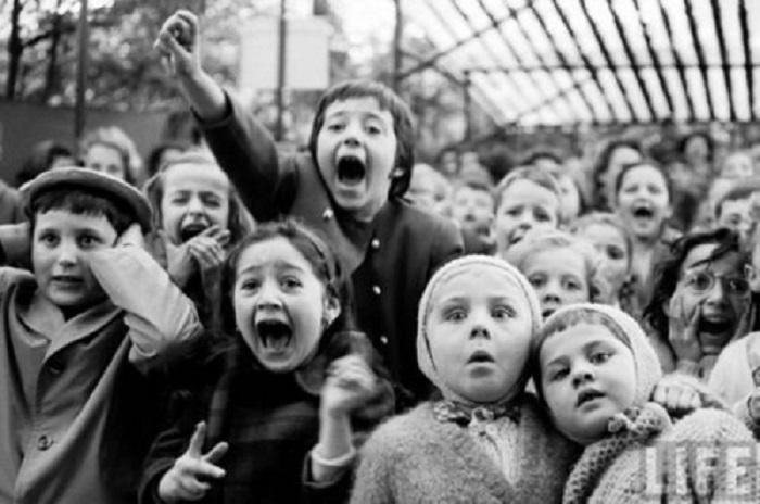 Реакция детей на счастливый финал, 1963 год.