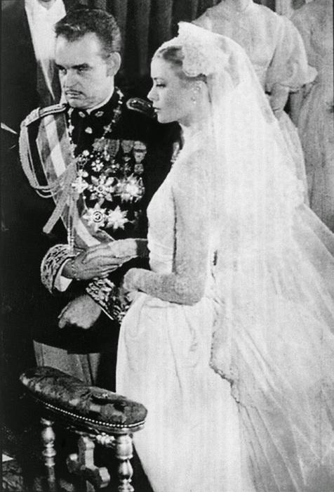 Свадьба американской актрисы и тринадцатого князя Монако с 1949 по 2005 из династии Гримальди, 1956 год.