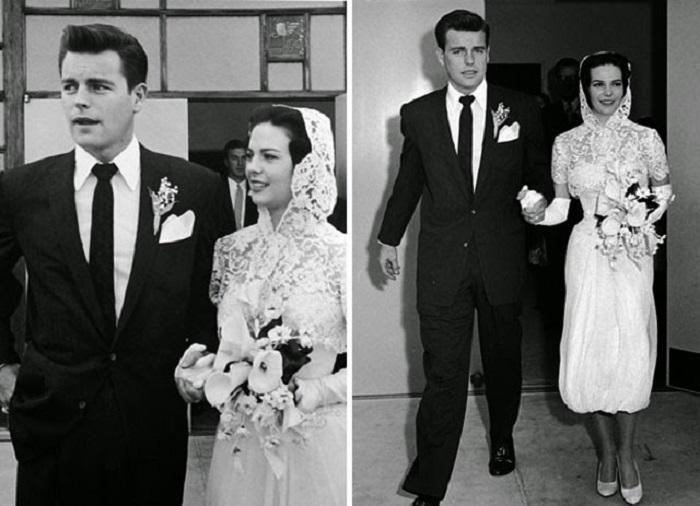 Свадьба американских актёров, 1957 год.
