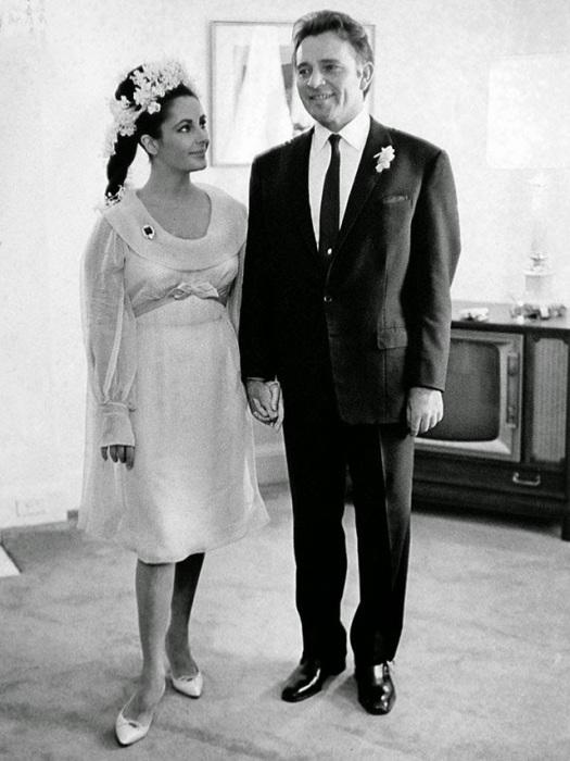 Свадьба «королевы Голливуда» и британского актёра, 1964 год.