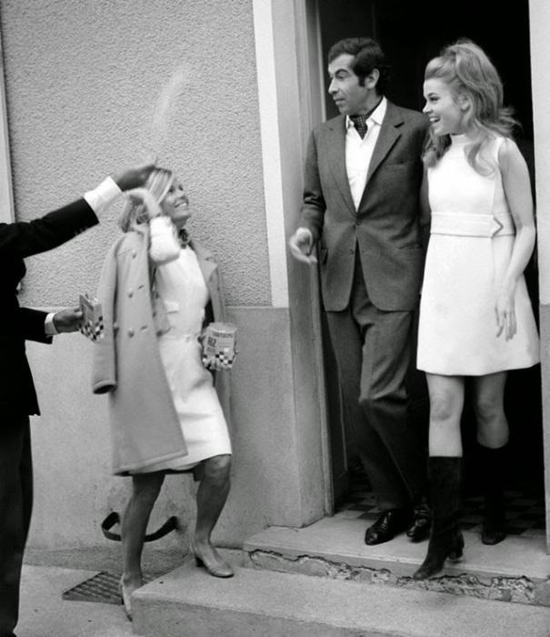 Свадьба американской модели и французского кинорежиссёра, 1965 год.