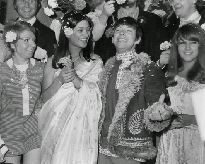 Свадьба известного британского певца, 1967 год.