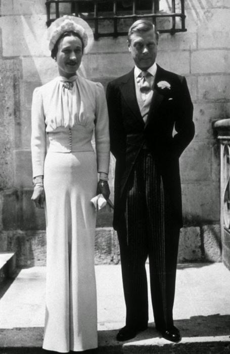 Свадьба герцога Виндзорского, бывшего короля Великобритании Эдуарда VIII, 1937 год.