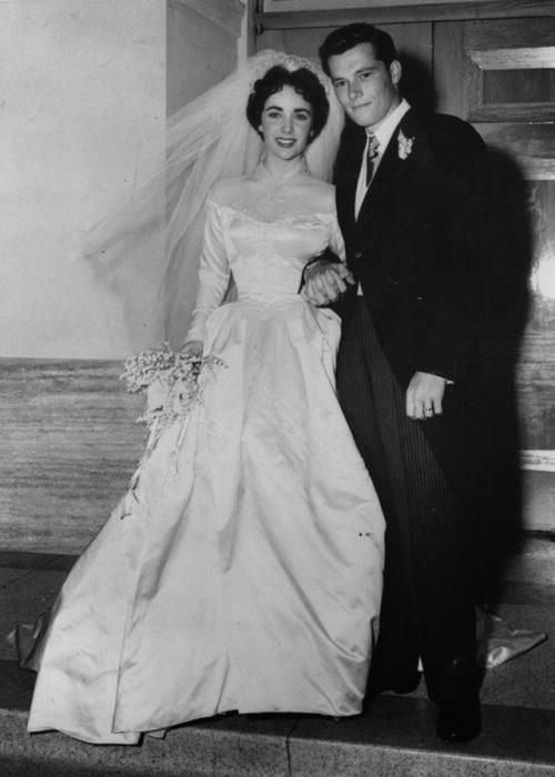 Свадьба «королевы Голливуда» и основателя сети отелей Hilton, 1950 год.