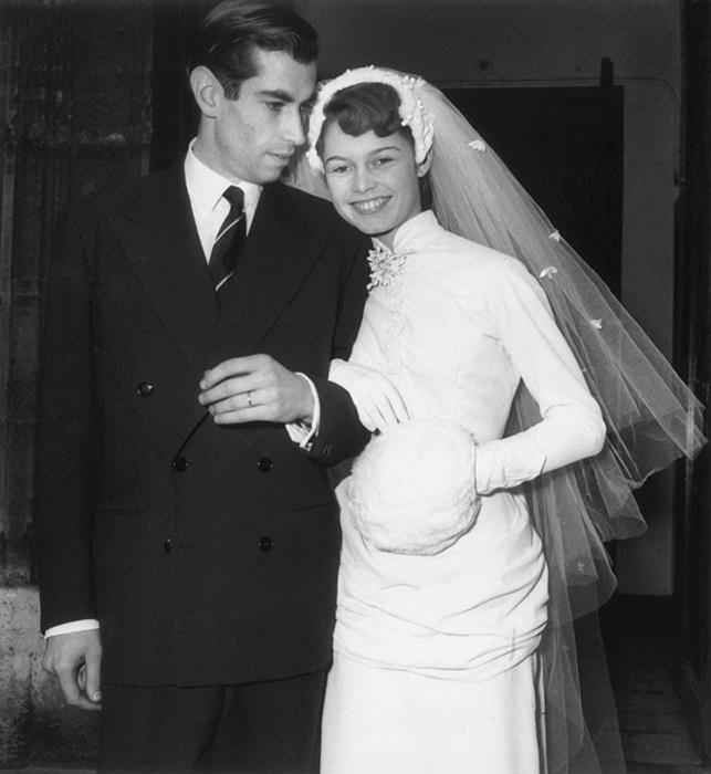Свадьба французской актрисы, певицы и французского актёра, 1952 год.
