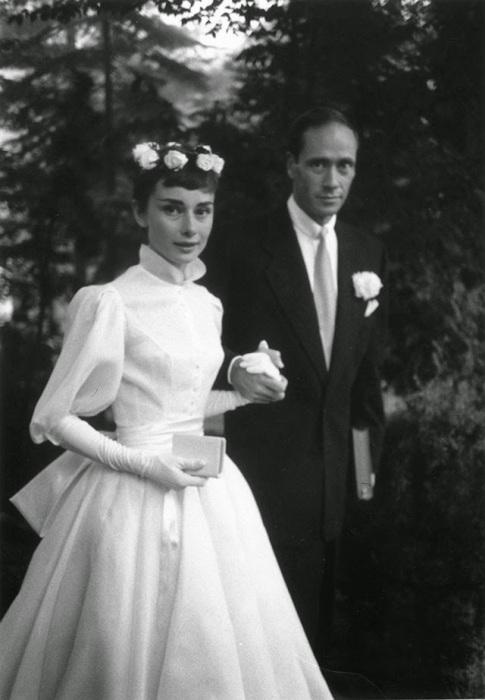 Свадьба британской актрисы и американского актёра, 1954 год.
