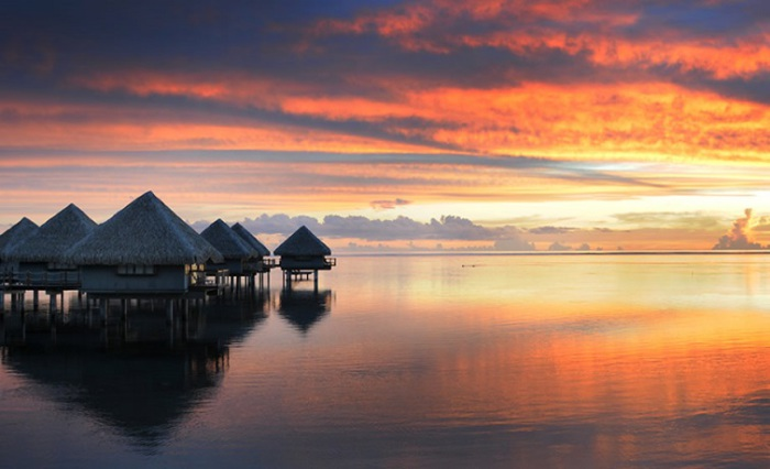 Тропический рай для романтической свадьбы.