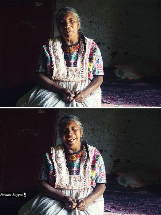 Искренняя и добродушная улыбка женщины.