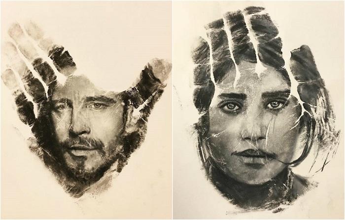 Удивительные портреты-отпечатки, созданные Расселом Пауэллом.
