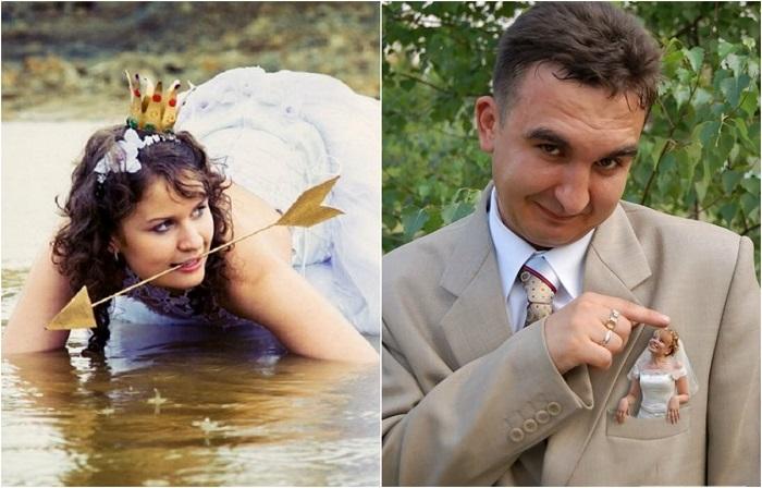 Странные и причудливые свадебные фотографии.