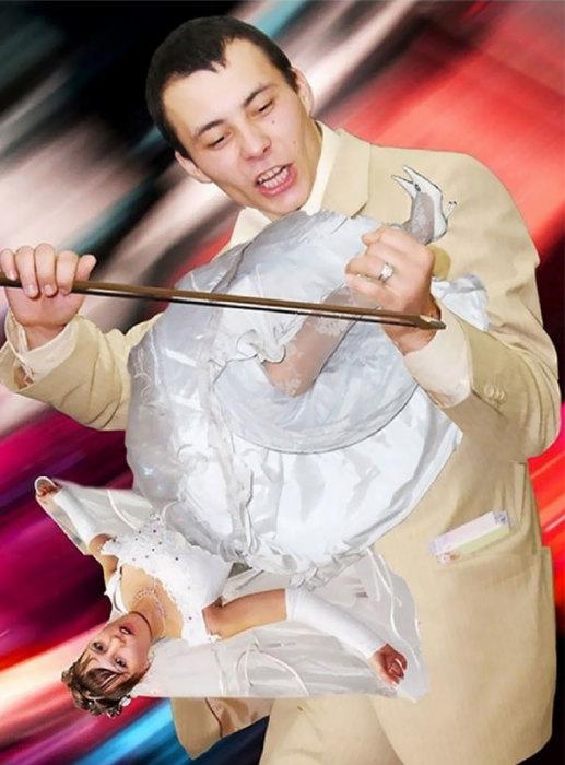 Самая странная и загадочная свадебная фотография – что же хотел казать автор?