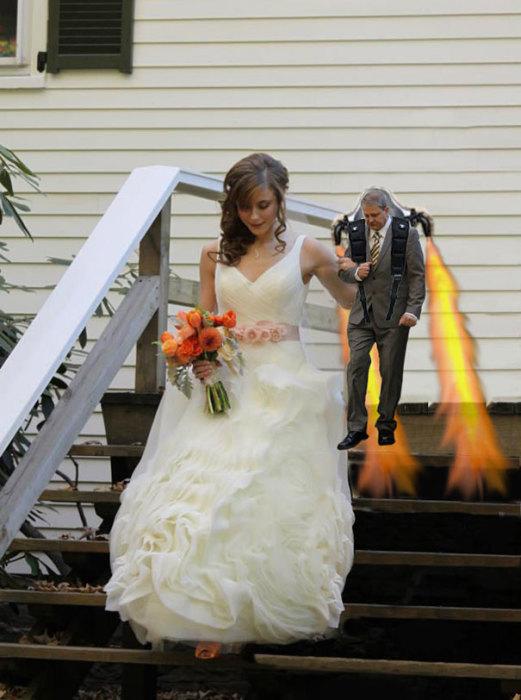 Главное, что цвет пламени в тон свадебным туфелькам дочки.