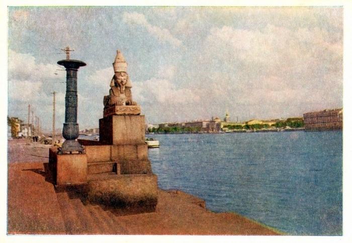 «Петербургские сфинксы» у Благовещенского моста, находятся  на первом месте по старшинству и художественной ценности.