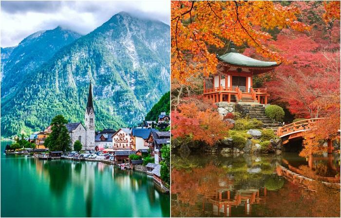 Живописные места из разных уголков мира.