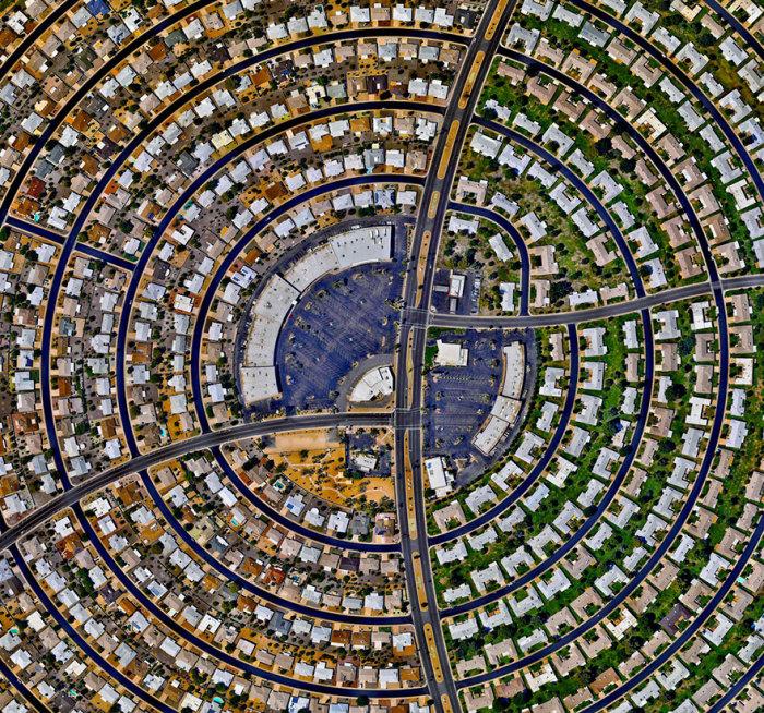 Дома, расположенные концентрическими кругами.