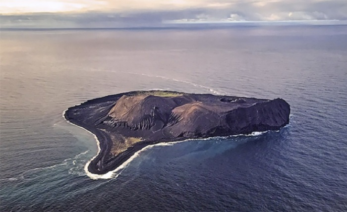 Доступ на остров, который был образован после извержения вулкана, есть только у нескольких ученых, наблюдающих за формированием уникальной экосистемы.