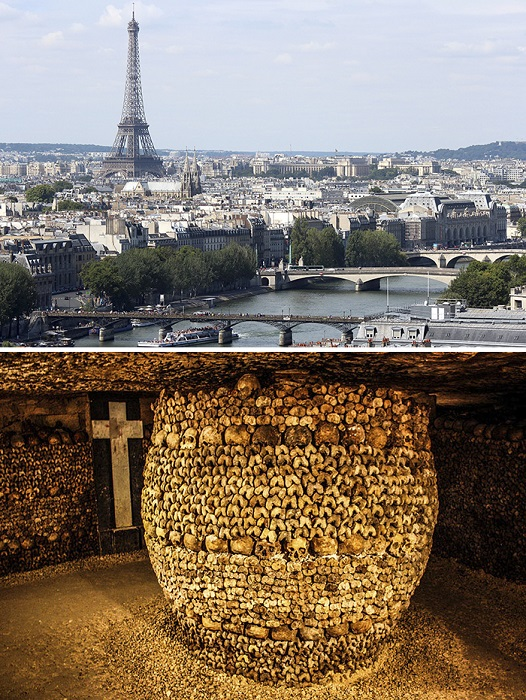 Древняя сеть подземных туннелей, местами превращенных в кладбище, до сих пор лишь частично открыта для посетителей.